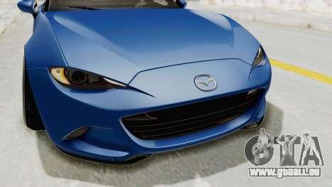 Mazda MX-5 Slammed pour GTA San Andreas vue de dessus