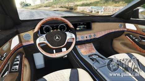 Mercedes-Benz S500 (W222) [yokohama] v2.1 pour GTA 5