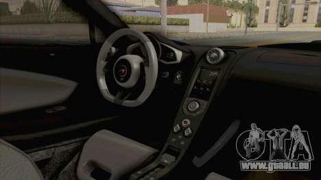 McLaren 675LT Coupe v1.0 pour GTA San Andreas vue intérieure