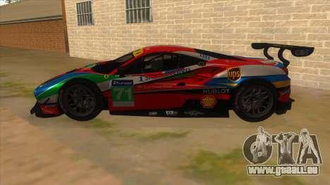 2016 Ferrari 488 GTE pour GTA San Andreas laissé vue