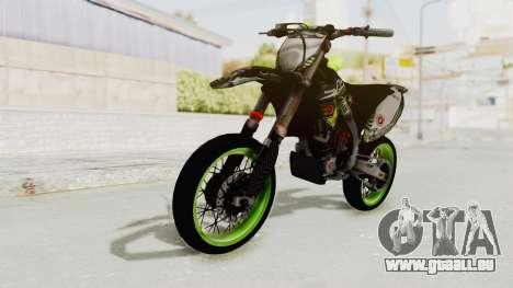 Kawasaki KX 125 Supermoto pour GTA San Andreas vue de droite