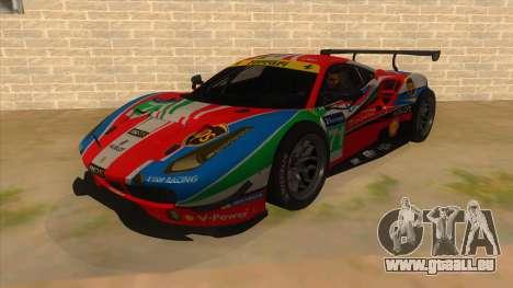 2016 Ferrari 488 GTE pour GTA San Andreas