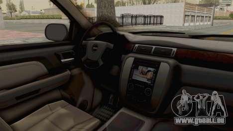 GMC Sierra 2010 pour GTA San Andreas vue intérieure