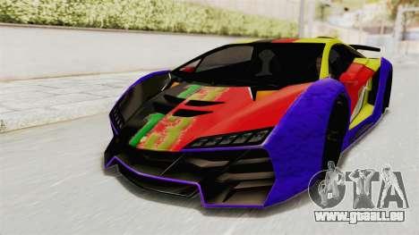 GTA 5 Pegassi Zentorno PJ pour GTA San Andreas vue de côté