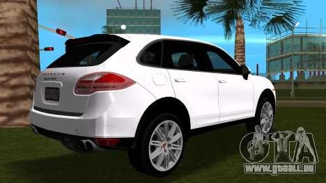 Porsche Cayenne 2012 pour GTA Vice City sur la vue arrière gauche
