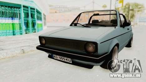 Volkswagen Golf 1 Cabrio VR6 für GTA San Andreas