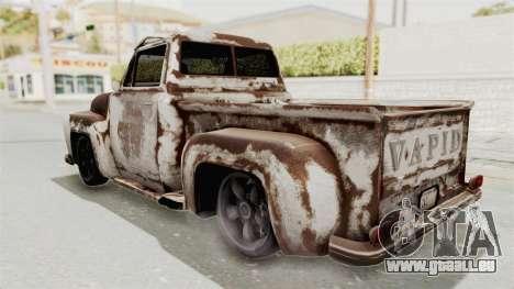 GTA 5 Slamvan Lowrider für GTA San Andreas obere Ansicht