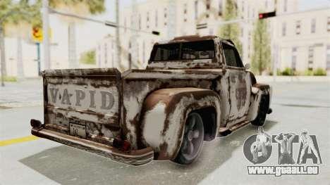 GTA 5 Slamvan Lowrider PJ2 pour GTA San Andreas vue de dessus