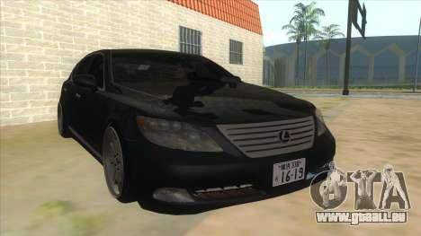 Lexus LS600HL 2008 pour GTA San Andreas vue arrière