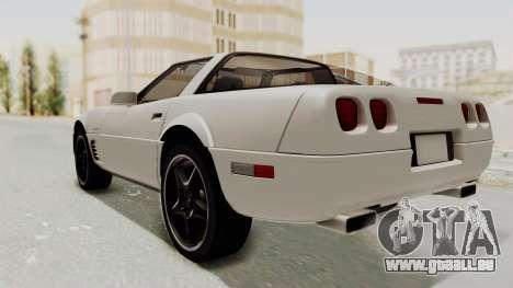 Chevrolet Corvette C4 1996 pour GTA San Andreas sur la vue arrière gauche