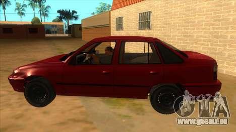 Daewoo Racer GTI pour GTA San Andreas laissé vue