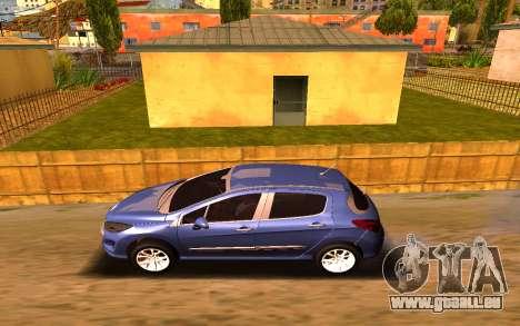 Iranian Peugeot 308 pour GTA San Andreas laissé vue