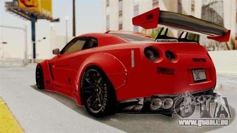 Nissan GT-R R35 Liberty Walk LB Performance v2 für GTA San Andreas linke Ansicht