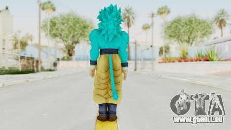 Dragon Ball Xenoverse Goku SSJ4 SSGSS für GTA San Andreas dritten Screenshot