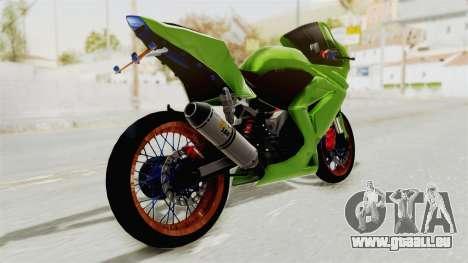 Kawasaki Ninja 250R Asian Style für GTA San Andreas linke Ansicht