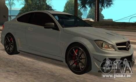 Mercedes-Benz C63 AMG Black-series pour GTA San Andreas