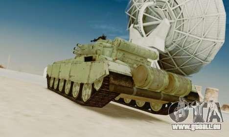 DER T-72A für GTA San Andreas zurück linke Ansicht