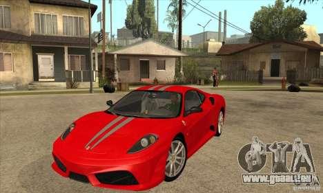 Ferrari F430 Scuderia BULKIN EDITION pour GTA San Andreas sur la vue arrière gauche