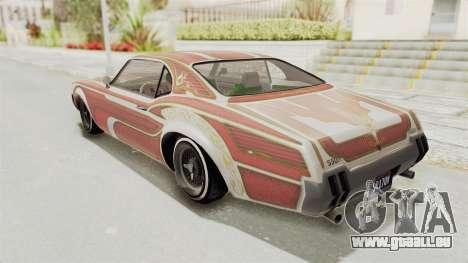 GTA 5 Declasse Sabre GT2 für GTA San Andreas Innen
