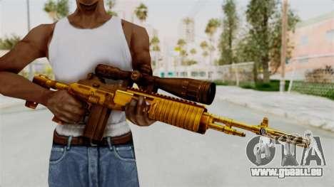 M14EBR Gold für GTA San Andreas dritten Screenshot