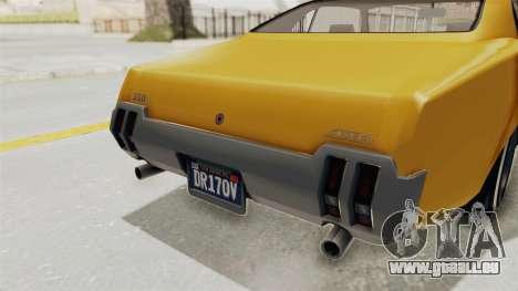 GTA 5 Declasse Sabre GT2 A IVF pour GTA San Andreas vue de dessous