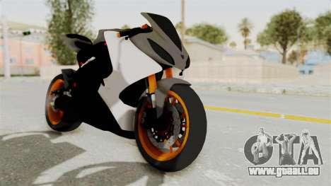 Yamaha YZF-R25 YoungMachine v2 pour GTA San Andreas vue de droite