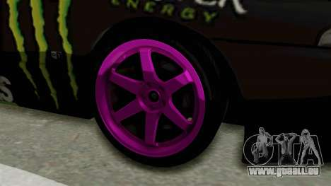 Nissan Skyline R32 Drift Monster Energy Falken pour GTA San Andreas vue arrière