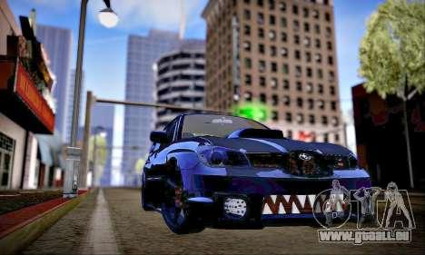 Subaru Impreza WRX STI Dark Knight pour GTA San Andreas vue intérieure