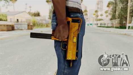 MAC-10 Gold pour GTA San Andreas troisième écran