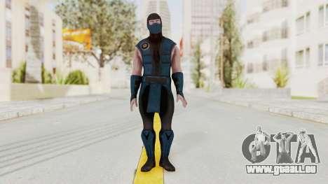 Mortal Kombat X Klassic Sub Zero v1 pour GTA San Andreas deuxième écran