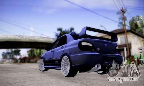 Subaru impreza WRX STi LP400 v2 pour GTA San Andreas laissé vue