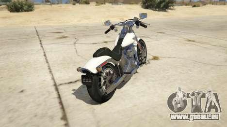 GTA 5 Harley-Davidson FXSTS Springer Softail arrière vue latérale gauche