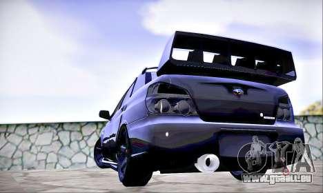 Subaru Impreza WRX STI Dark Knight pour GTA San Andreas laissé vue