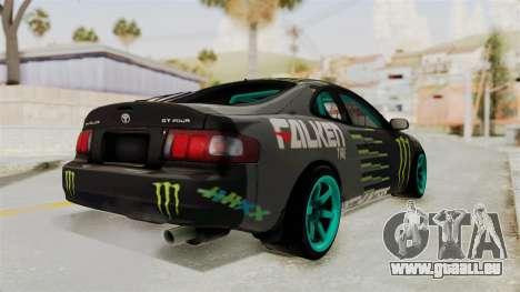 Toyota Celica GT Drift Monster Energy Falken für GTA San Andreas linke Ansicht
