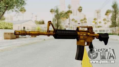 M4A1 Gold pour GTA San Andreas