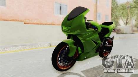Kawasaki Ninja 250R Asian Style für GTA San Andreas rechten Ansicht