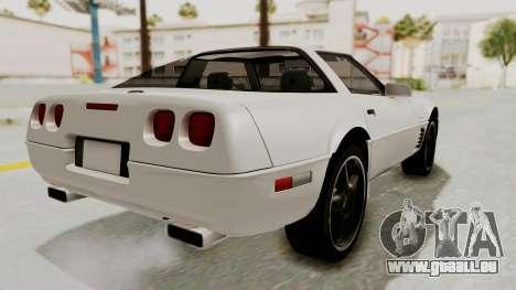 Chevrolet Corvette C4 1996 pour GTA San Andreas laissé vue