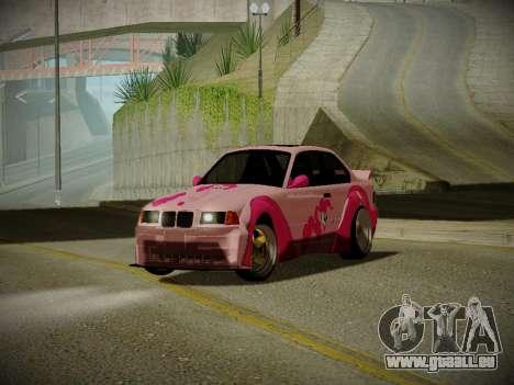 BMW M3 E36 Pinkie Pie pour GTA San Andreas laissé vue