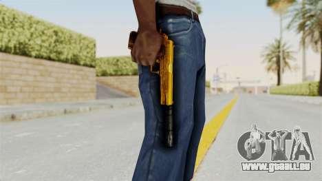 Silenced M1911 Gold für GTA San Andreas