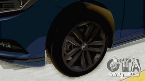 Volkswagen Passat B8 2016 Highline IVF für GTA San Andreas Rückansicht
