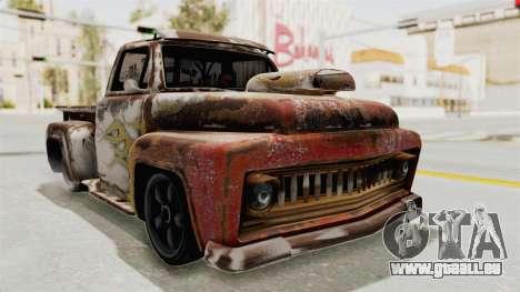 GTA 5 Slamvan Lowrider für GTA San Andreas Rückansicht