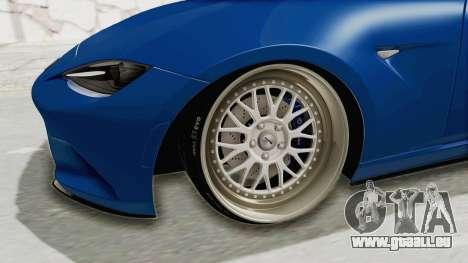 Mazda MX-5 Slammed für GTA San Andreas Rückansicht