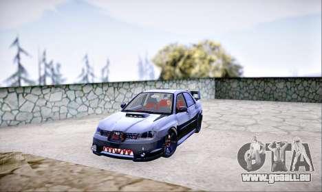 Subaru Impreza WRX STI Dark Knight pour GTA San Andreas sur la vue arrière gauche