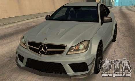 Mercedes-Benz C63 AMG Black-series pour GTA San Andreas laissé vue