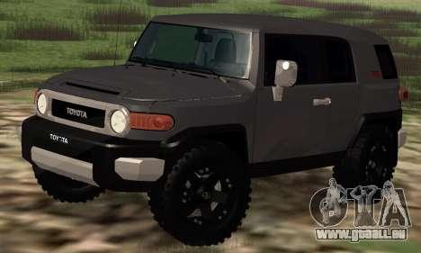 Toyota FJ Cruiser pour GTA San Andreas laissé vue