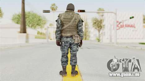 COD BO Russian Spetznas Flak MP v1 für GTA San Andreas dritten Screenshot