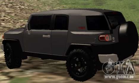 Toyota FJ Cruiser pour GTA San Andreas sur la vue arrière gauche