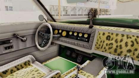 GTA 5 Declasse Sabre GT2 für GTA San Andreas Innenansicht