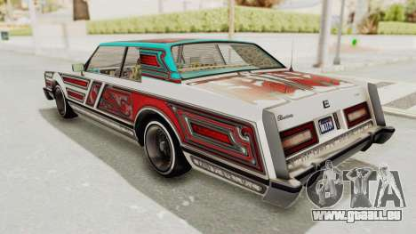 GTA 5 Dundreary Virgo Classic Custom v1 pour GTA San Andreas vue de dessous