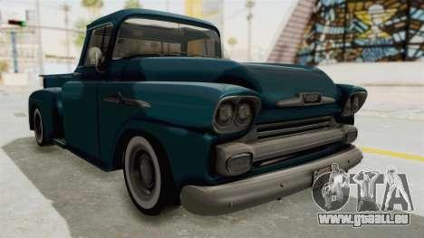 Chevrolet Apache 1958 pour GTA San Andreas vue de droite